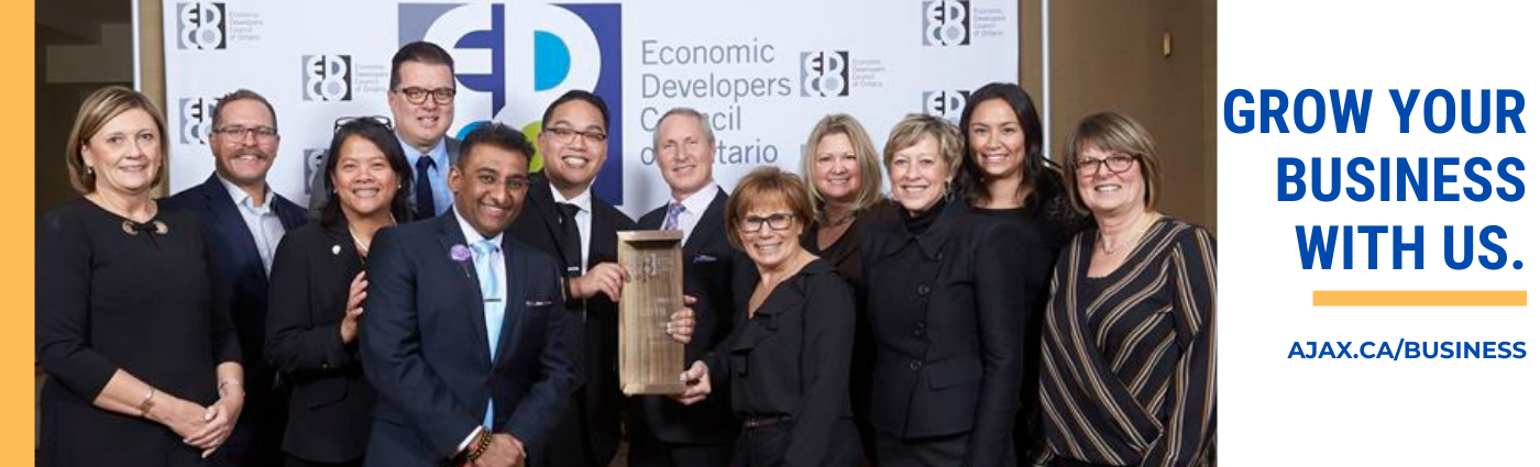 Grow with Us - Ajax Council and Economic Development - EDCO Award