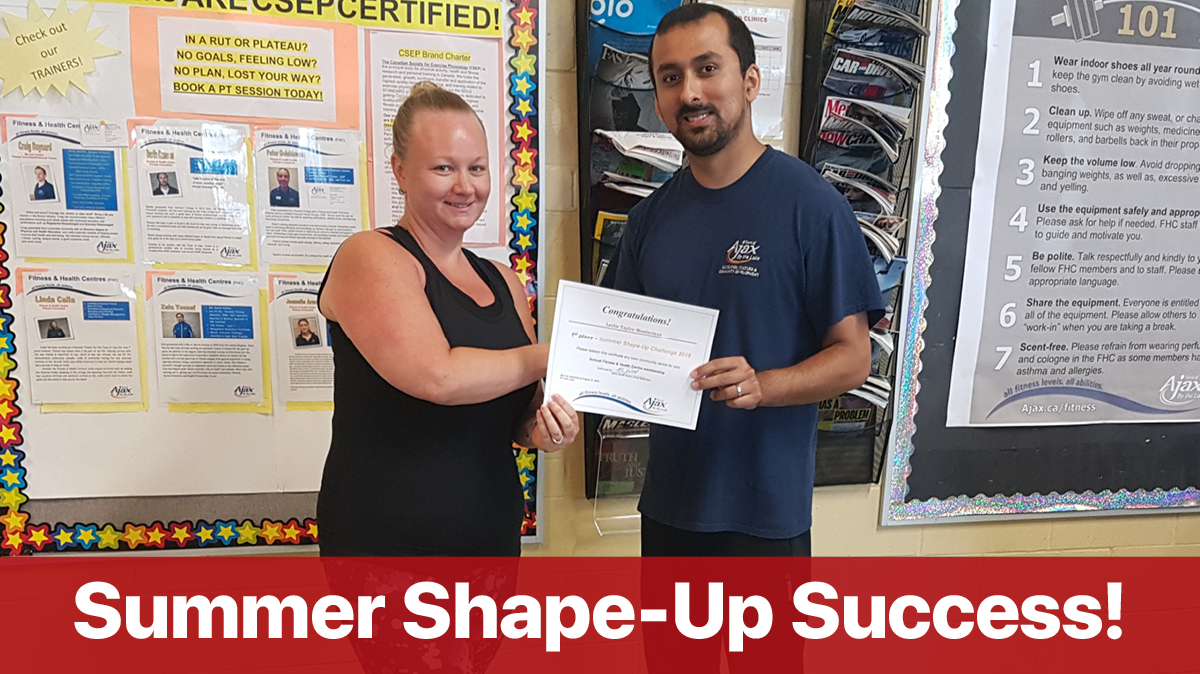 Summer Shape up winner
