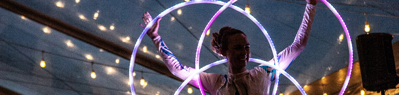 Glow Hula Hoop Performance