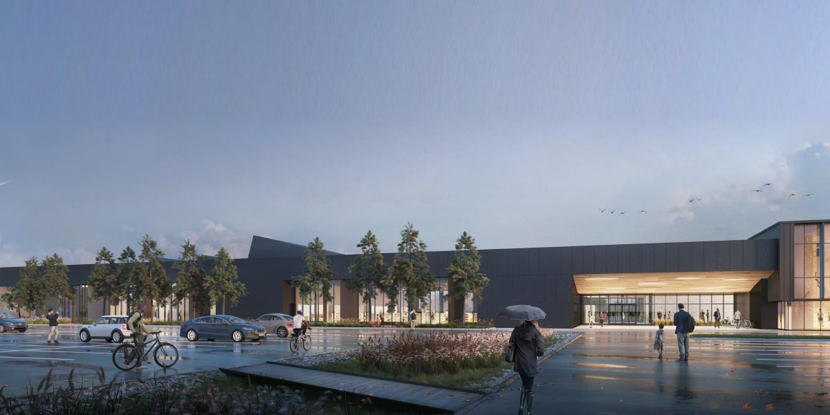 Audley Recreation Centre Phase 2 Rendering