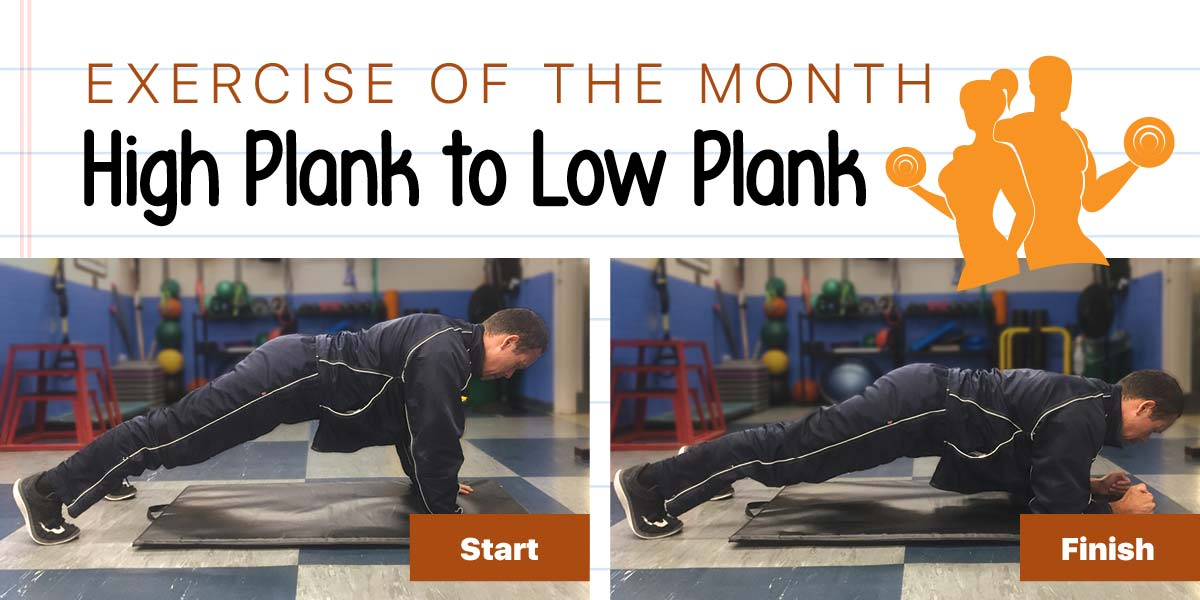 Demonstration of High Plank to Low Plank