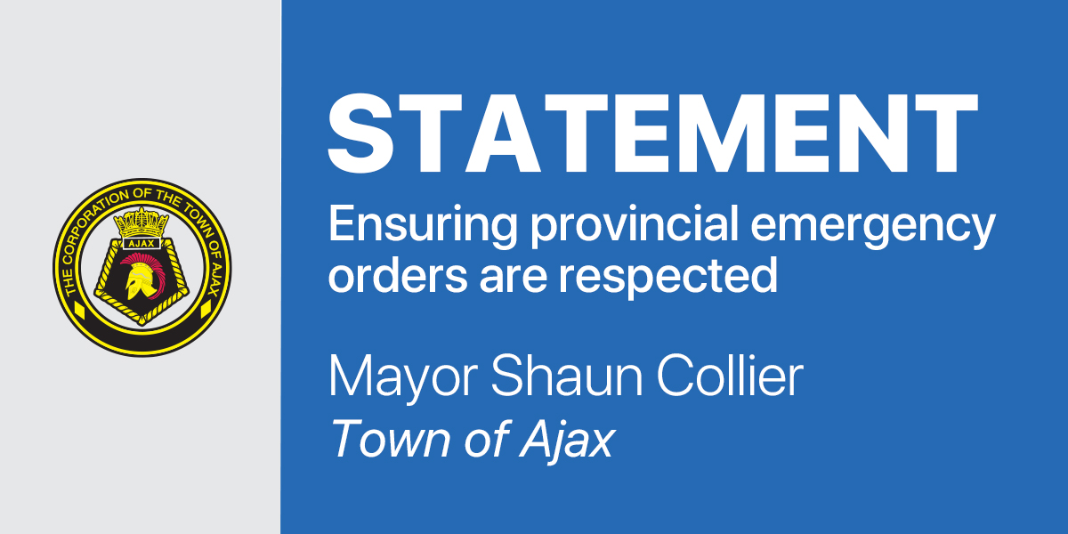 Statement from Mayor Collier: Ensuring provincial emergency orders are respected