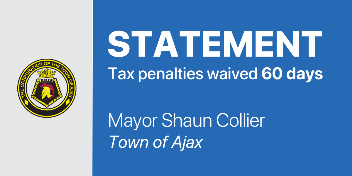 Statement from Mayor Collier: Tax penalties waived 60 days