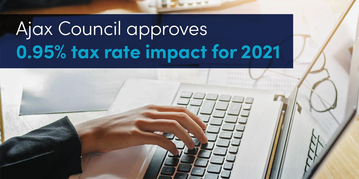 Ajax Council approves 0.95% tax rate impact for 2021