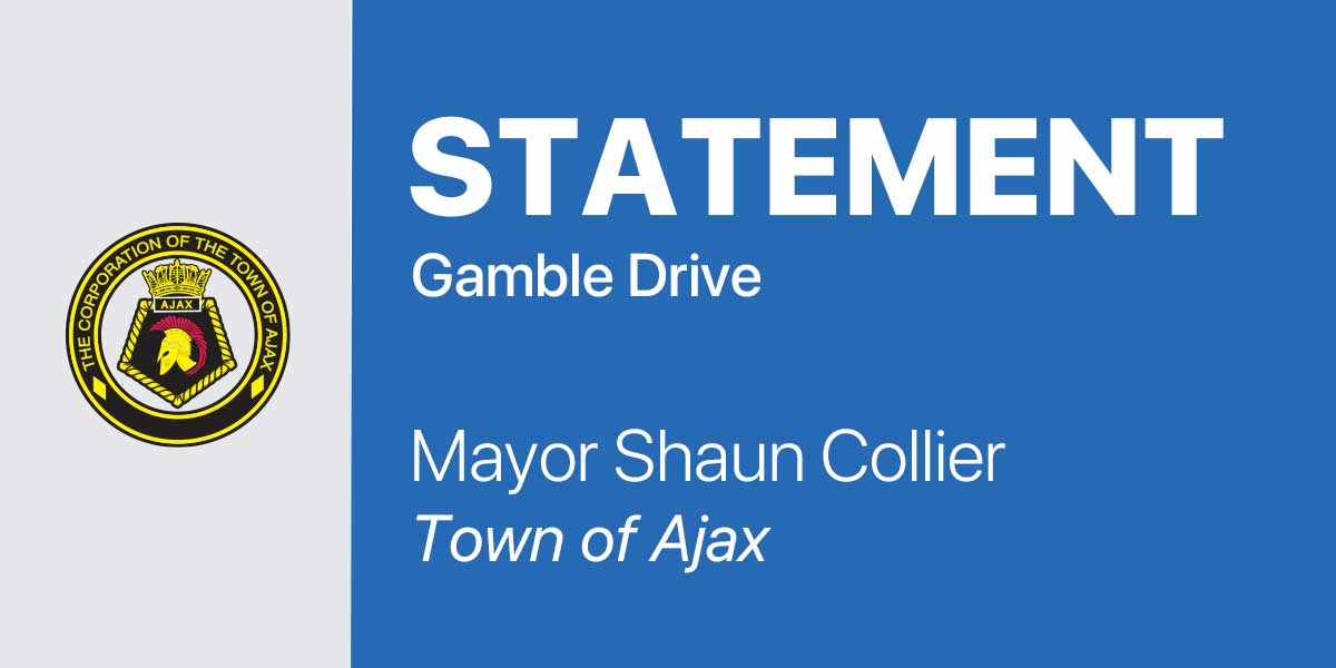 Statement from Mayor Collier on Gamble Drive